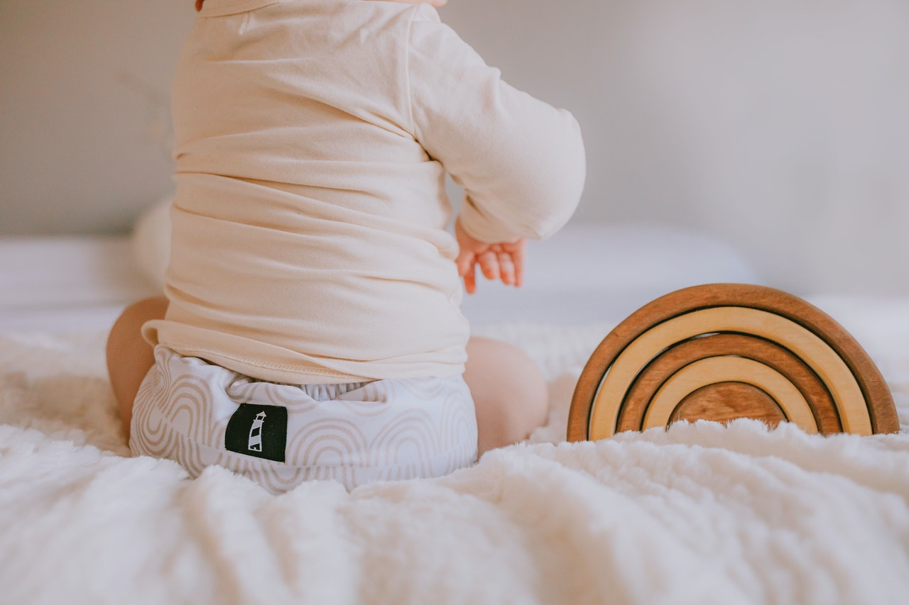 baby in nappies